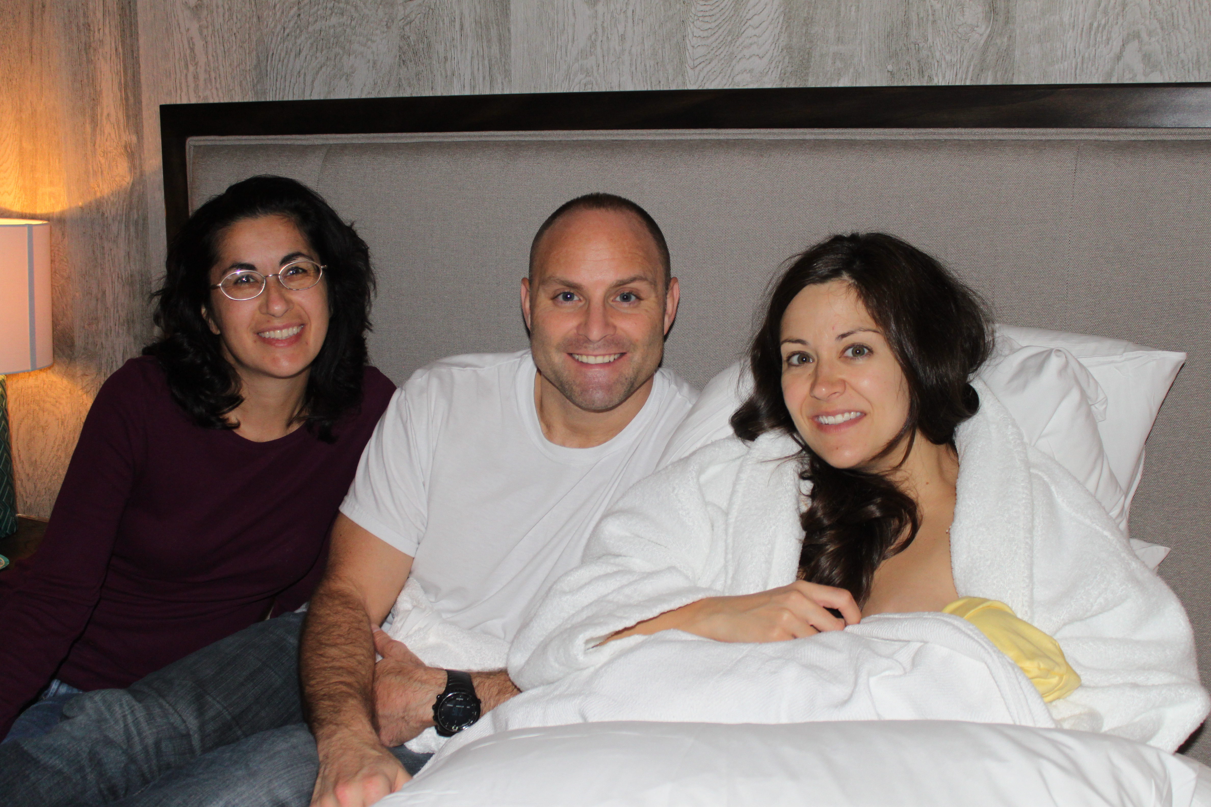 Doula Heidi Duncan with clients Randall & Amanda after their beautiful birth at Baby+Co Birth Center in Nashville